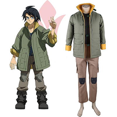 Mobile Suit Gundam: Iron-Blooded Orphans Mikazuki Augus Cosplay Costume Carnaval