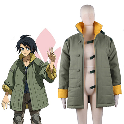 Mobile Suit Gundam: Iron-Blooded Orphans Mikazuki Augus Jacket Cosplay Kostume Fastelavn