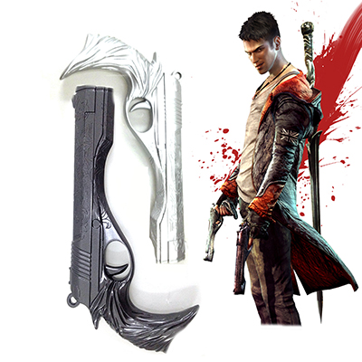 Devil May Cry 5 Ebony Ivory Gun Cosplay Rekvisitter Karneval