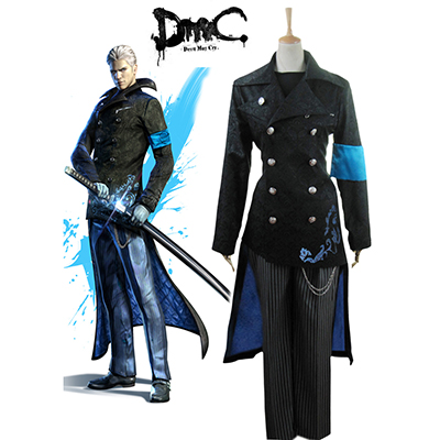 Devil May Cry 5 Vergil Yougth Cosplay Kostym Karneval