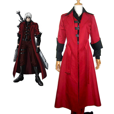 Devil May Cry 3 Dante Frakk Cosplay Kostymer Karneval