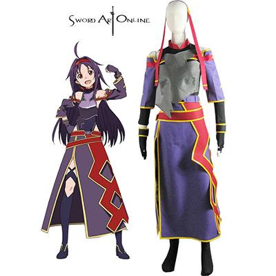 Sword Art Online II Yuuki Kondo Cosplay Kostyme Karneval