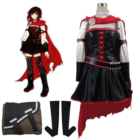 RWBY Volume 4 Ruby Rose Cosplay Costumi Anime Abiti Carnevale