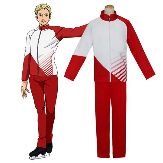 Yuri on Ice YURI!!!on ICE Giacometti Christophe Sportswear Suit Outfit Cosplay Disfraz Carnaval