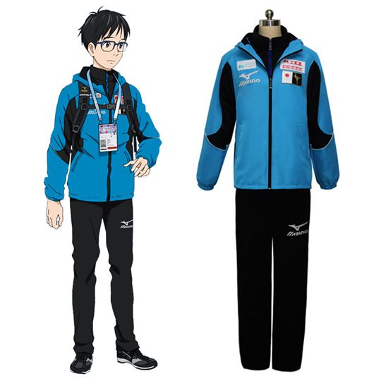 Yuri on Ice YURI!!!on ICE Katsuki Yuuri Sportswear Suit Kläder Cosplay Kostym Karneval