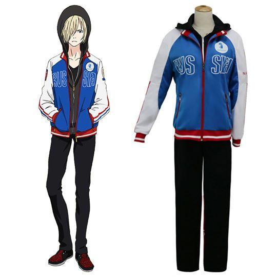 Yuri on Ice YURI!!!on ICE Plisetsky Yuri Sportkleding Suit Kleding Cosplay Kostuum Carnaval