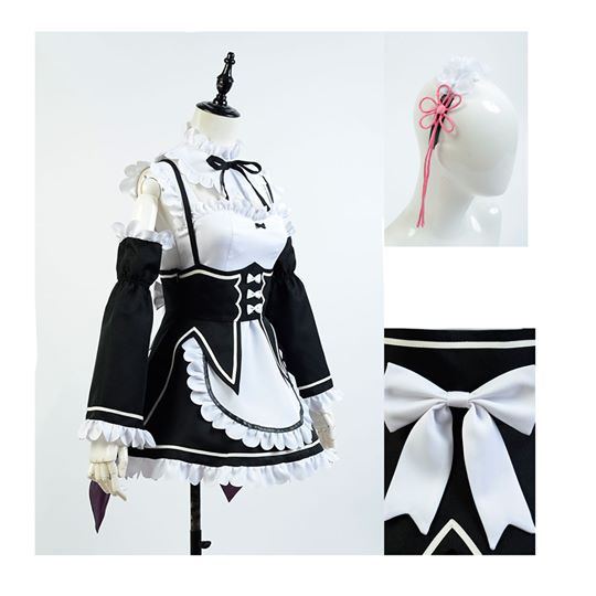 Re:Zero - Starting Life in Another World Zero Rem Cosplay asut Naamiaisasut