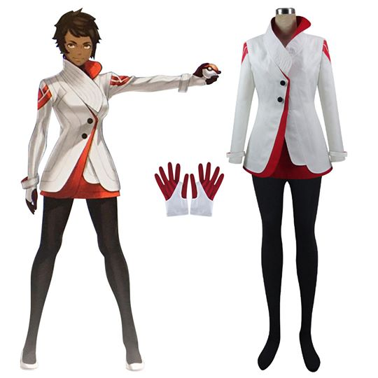 Pokemon GO Pocket Monster Candela Team Valor Cosplay Costume