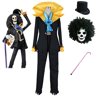 One Piece Brook Suit Cosplay Kostym Karneval