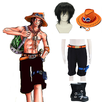 One piece Portgas·D· Ace Cosplay Kostume Fastelavn