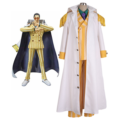 One Piece Borsalino Cosplay Costumes Full Set