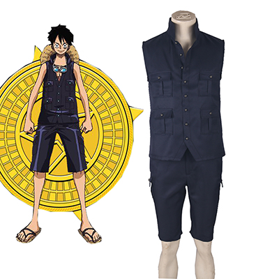 One Piece Film Gold Monkey·D·Luffy Cosplay Kostuum Carnaval Halloween