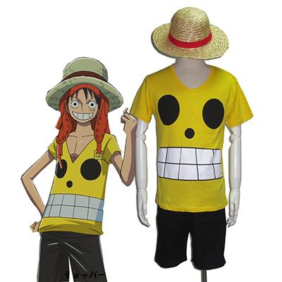 One Piece Film Z Monkey·D·Luffy Kesä Cosplay asut Naamiaisasut