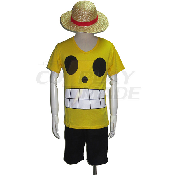 One Piece Film Z Monkey·D·Luffy Summer Cosplay Costume
