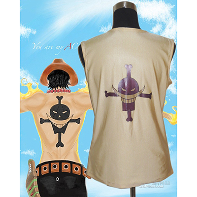 One Piece Portgas·D· Ace T Shirt Cosplay Kostym Karneval