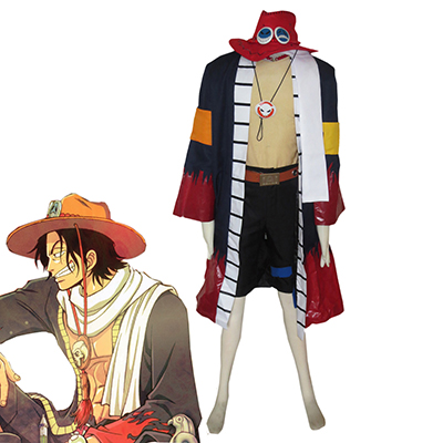 One Piece Portgas·D· Ace Cosplay Kostuum Volledige set Carnaval