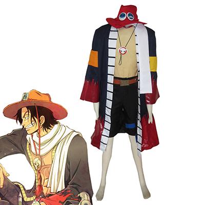 One Piece Portgas·D· Ace Cosplay Jelmez Teljes Készlet Karnevál