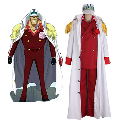 One Piece Sakazuki Cosplay Kostuum Volledige set Carnaval Halloween