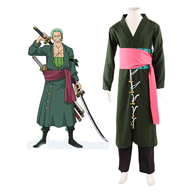 One Piece Roronoa Zoro 2 Years Late Cosplay Traje Carnaval