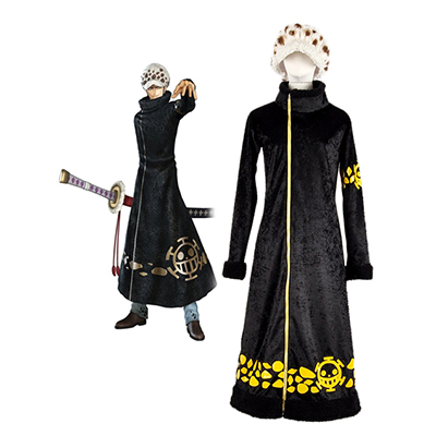 One Piece Trafalgar Law 2 år senare Cosplay Kostym Karneval