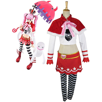 One Piece Perona Two Years Ago Cosplay Kostume Fastelavn