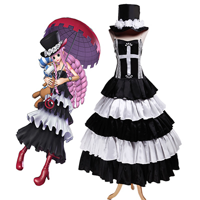 One Piece Perona Two Years Ago Lolita Cosplay Costume