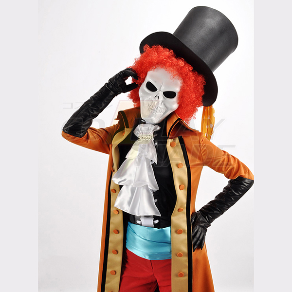 One Piece Film Z Brook/Burukku Cosplay asut Naamiaisasut