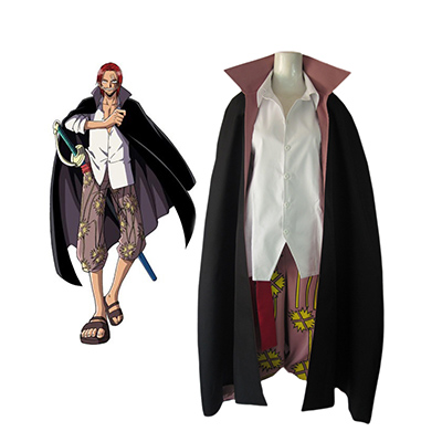 One Piece Red-Haired Shanks Two Years Late Cosplay Kostume Fastelavn