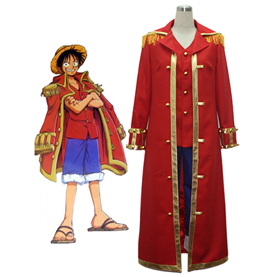 One Piece Monkey·D·Luffy Captain Cosplay Kostume Fastelavn