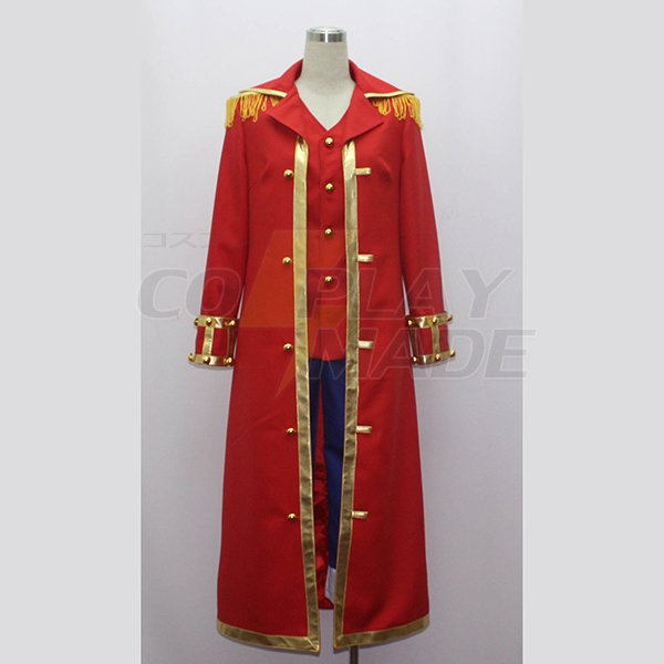 One Piece Monkey·D·Luffy Captain Cosplay Jelmez Karnevál