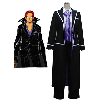 One Piece Red-Haired Shanks Suit Cosplay Kostume Fastelavn