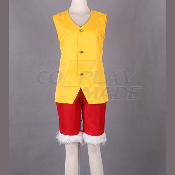 One Piece Monkey·D·Luffy IV Cosplay Kostume Fastelavn