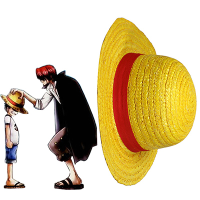 One Piece Monkey·D·Luffy Straw Hatt Cosplay Rekvisita Karneval