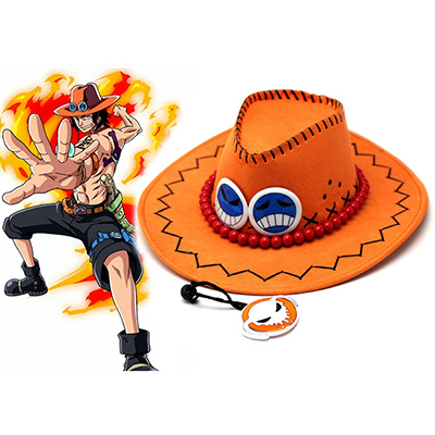 One Piece Portgas·D· Ace West Cowboy Kalap Cosplay Kellékek Karnevál