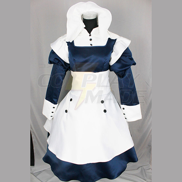 Black Butler Mey-Rin Maid Cosplay Kostume Fastelavn