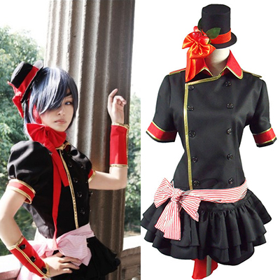 Black Butler Ciel Phantomhive Black Lolita Cosplay Costume