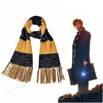 Fantastic Beasts and Where to Find Them Newt Scamander Scarf Cosplay Rekvisitter Karneval