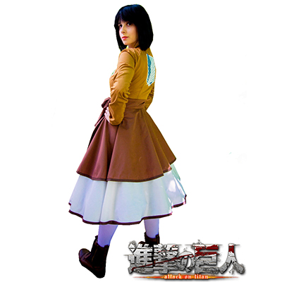 Attack On Titan Colossal Survey Corps Lolita Cosplay Kostym Karneval