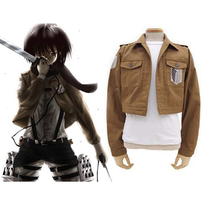 Attack On Titan Colossal Survey Corps Jacka Cosplay Kostym Karneval