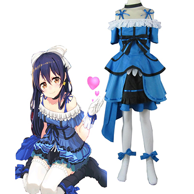 Love Live! Music start!! Sonoda Umi Blue Lolita Abito Cosplay Costumi Carnevale