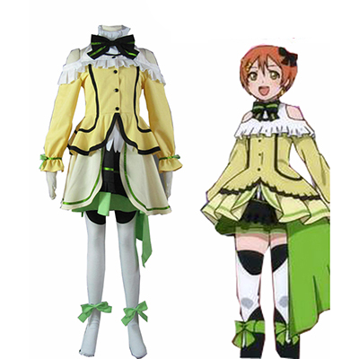 Love Live! Music start!! Rin Hoshizora Yellow Lolita Abito Cosplay Costumi Carnevale