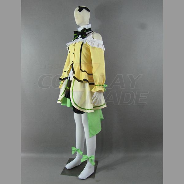 Love Live! Music start!! Rin Hoshizora Yellow Lolita Dress Cosplay Costume