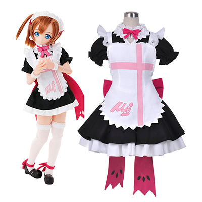 Love Live! Sunshine!! Honoka Kousaka Maid Cosplay Costumi Carnevale