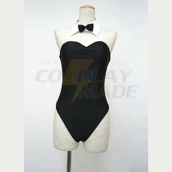 Haruhi Suzumiya Black Sexy Uniform Cosplay Kostume Fastelavn