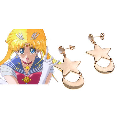 Sailor Moon Tsukino Usagi Ear-Ring Cosplay Rekvisitter Karneval