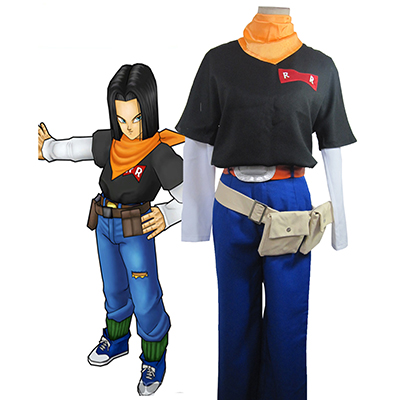 Dragon Ball Android 17 Cosplay Kostym Karneval
