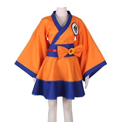 Dragon Ball Son Goku Lolita Cosplay Costumi Carnevale