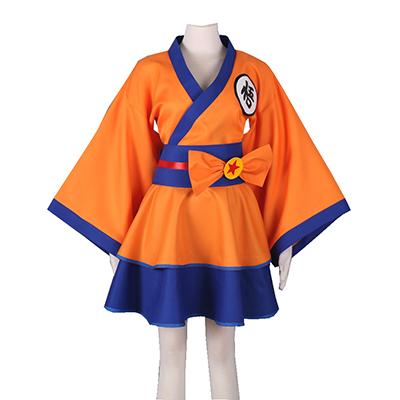 Dragon Ball Son Goku Lolita Cosplay Kostume Fastelavn