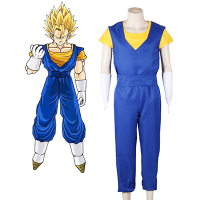 Dragon Ball Vegetto Fighting Univormu Cosplay asut Naamiaisasut