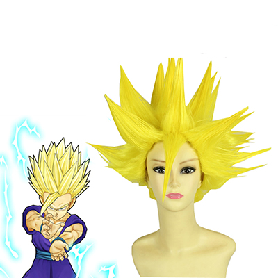 Dragon Ball Super Saiyan Cosplay Pruik Carnaval Halloween